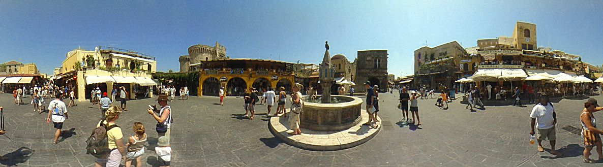 ''Hippocrates'' square, ''The big fountain'', Rhodes Old Town Photo Image of Rhodes - Rodos - Rhodos island, Greece