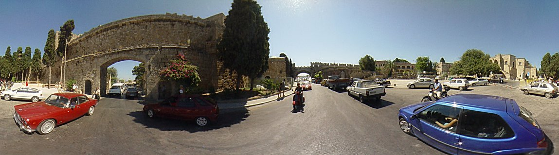 The Eleftherias gate, Rhodes Old town., Rhodes Old Town Photo Image of Rhodes - Rodos - Rhodos island, Greece