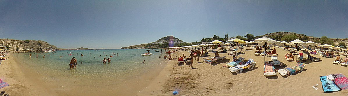 Lindos beach, Lindos Photo Image of Rhodes - Rodos - Rhodos island, Greece