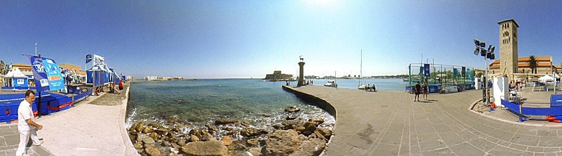 Panorama of the Olympic games 2004, 8 - 11 August 2003, Rhodes Town Photo Image of Rhodes - Rodos - Rhodos island, Greece